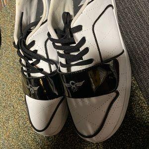 Creative rec tuxedo pattern sneakers